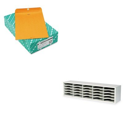 KITQUA37798SAF7751GR - Value Kit - Quality Park Clasp Envelope (QUA37798) and Safco E-Z Sort Steel Mail Sorter Module (SAF7751GR) kitaapbr181cycox01761ea value kit best hospitality wall cabinet aapbr181cy and clorox disinfecting wipes cox01761ea