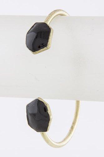 Karmas Canvas Angular Charm Cuff (Black)