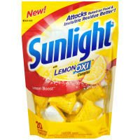 Sun Light Lemon Boost Dishwasher Power Pacs with Lemon Oxi (Case of 6) (Sunlight Oxi Action compare prices)