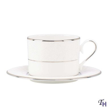 Lenox Venetian Lace Cup And Saucer Set, White