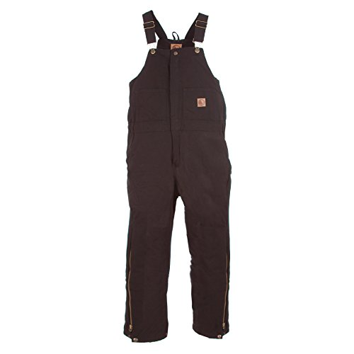 Berne Apparel Bb20 Youth'S Ins Bib Quilt Lined Overall Black Small