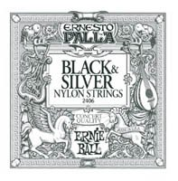Ernie Ball 2403 Ernesto Palla, Nylon-Tie End, Clear & Silver Classical Guitar String Set