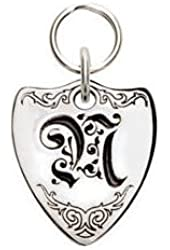 Rockinft Doggie 844587000264 Small Sterling Silver Crest Dog Tag - Letter N