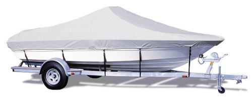 Taylor Made Products Trailerite Semi-Custom Boat Cover for Bay Style V-Hull Center Console Boats with Outboard Motors