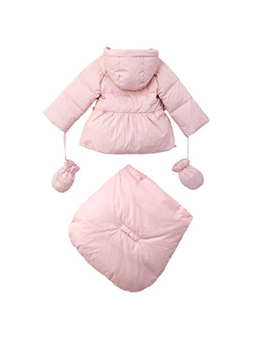 Oceankids Baby Girls Newborn Pram Down Bunting Snowsuit Detachable Bottom Pink 18M 12-18 Months