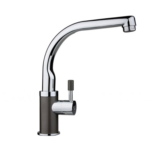 Single Handle Single Hole Centerset Kitchen Faucet, Chrome