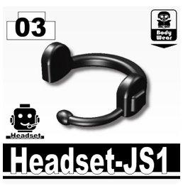 Headset (Black) - Custom Minifigure Piece