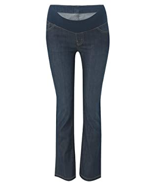 Maternity Under Bump Bootcut Mid Wash Jeans