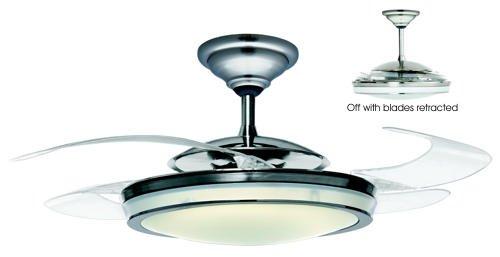 Hunter 21425 fanaway 48 ceiling fan with clear retractable blades hunter 21425 fanaway 48 ceiling fan with clear retractable blades brushed chrome mozeypictures Images