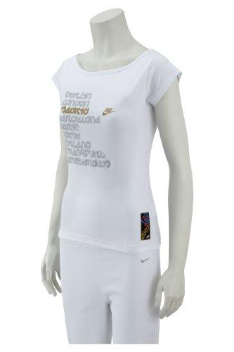 Nike Womens City Print Tee White/ Gold UK 14/16