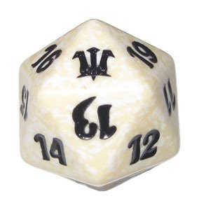 MTG Spindown D20 Life Counter - Innistrad White