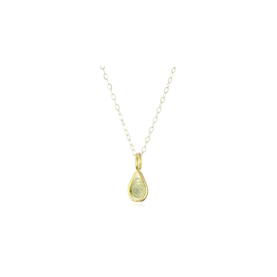 Dogeared Jewels & Gifts Healing Gems Gold Plated Green Quartz Pendant Necklace