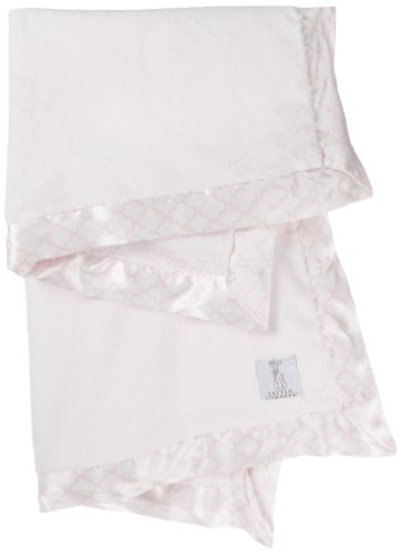 Little Giraffe Luxe Moroccan Baby Blanket, Pink, 29'' x 35''