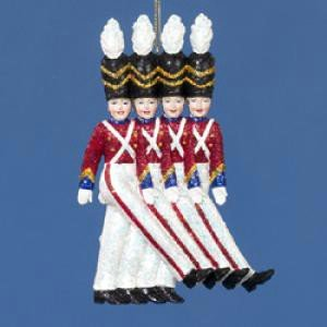 The Rockettes Toy Soldier Christmas Ornament - Glittering Holiday Decoration