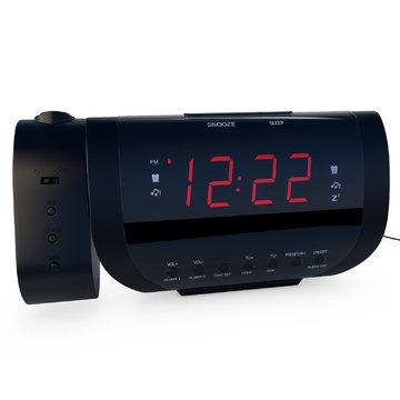 rated best alarm clock radio with time projection usb charger for smartphone. Black Bedroom Furniture Sets. Home Design Ideas