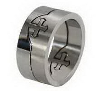 dan-smatree-accessories-mens-titanium-stainless-steel-silver-pop-out-cross-puzzle-ring-and-band-size