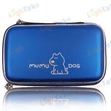 Nice  CARRYING CASE 3DS MUMU DOG - BLUE or BLACK with save shipping here