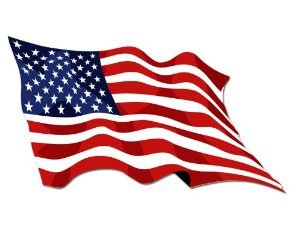 Waving American Flag Sticker
