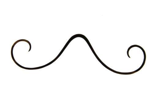 10G (2.6MM) Black Borosilicate Pyrex Glass Mustache - Septum Jewlery - Sold Individually