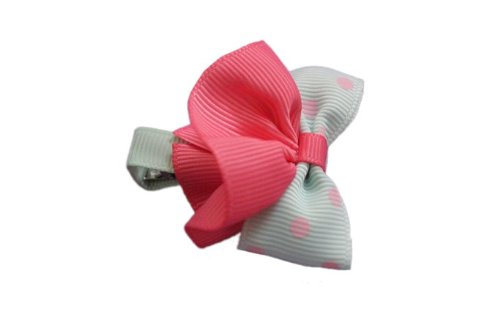 Alligator Charmingbaby Pink And Green Bow Skirt Alligator Clip (Multicolor)