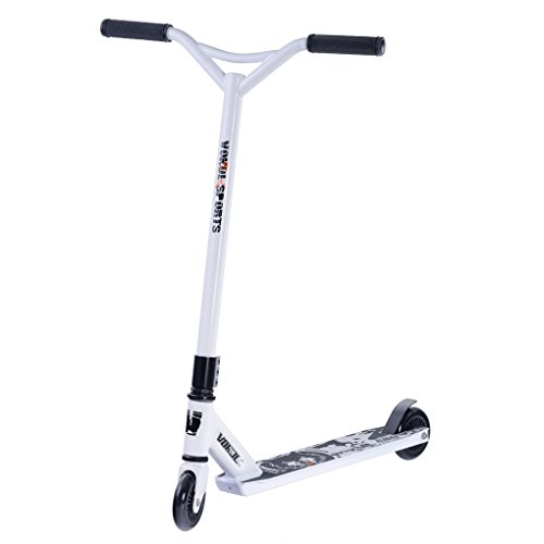 Vokul® TG-6061 Pro XX Style Lightweight, Super-Tough Aluminum Stunt Kick Scooter With High Grade Urethane Wheel (Y-white)
