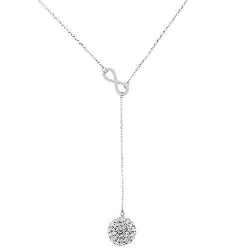 infinity-y-necklace-with-10mm-crystal-drop-in-sterling-silver