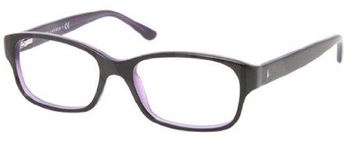 Ralph Lauren Rl6111 Eyeglasses-5371 Top Black On Violet-49Mm