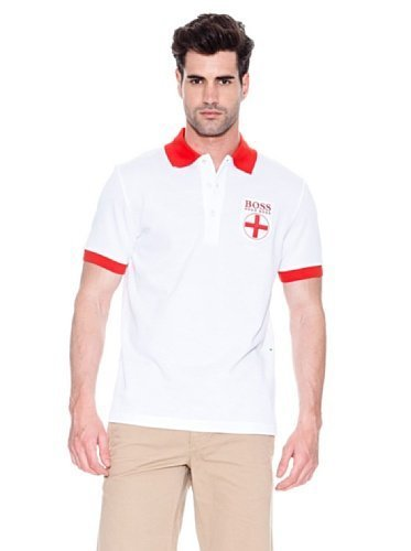 Hugo Boss England Paddy Flag Polo Shirt World Cup 2014 Mens Green Label Small