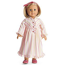 American Girl Kit's Striped Nightie for Dolls Pajamas Pj's