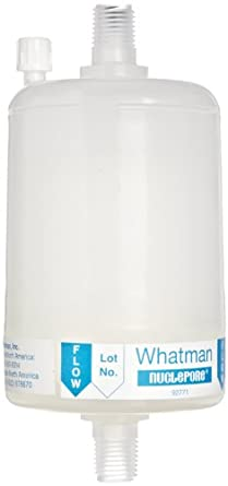 Whatman 2742M Polycap TC 75 Polyethersulfone Membrane Capsule Filter with MNPT Inlet and Outlet, 60 psi Maximum Pressure, 0.2 Micron (Pack of 5)