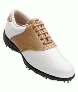 FootJoy SummerSeries Golf Shoes - Women's Size 5.5 Medium - White/Tan