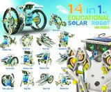 AdaraXx Gifts & Arts 14 In 1 Educational Solar Robot Kit