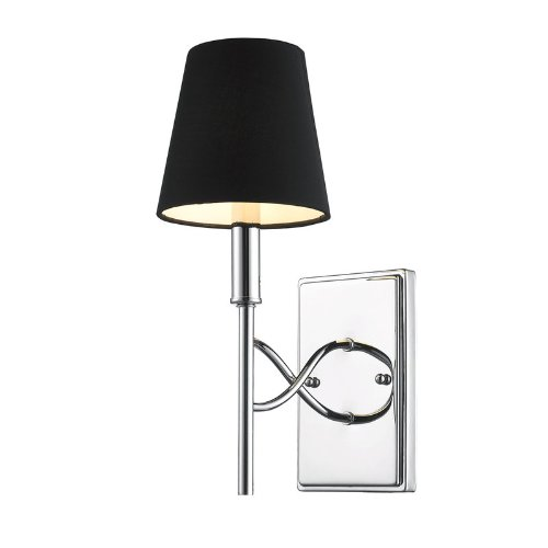 Chrome Wall Sconces With Shade : cet 59421-SS-PK: Golden Lighting 9106-1W CH-GRM Taylor - One Light Wall Sconce, Chrome Finish ...