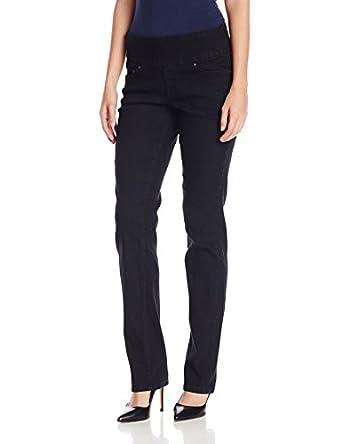 Jag Jeans Women's Peri Pull On Straight Leg Jean, Black Void, 2