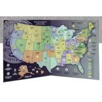 State Series Quarter Map, Gray, Folded