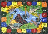 "Joy Carpets Kid Essentials Early Childhood We Dig Dinosaurs Rug, Multicolored, 10'9"" x 13'2"""
