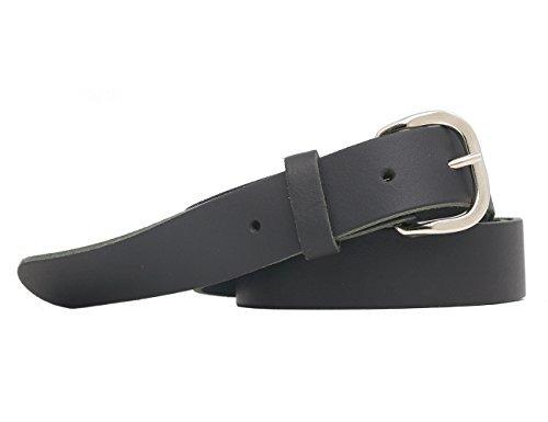 Cintura Vera Pelle Made In Germany Cintura 3cm Uomo Donna Oversize Fino a 145cm (nero, 150cm)