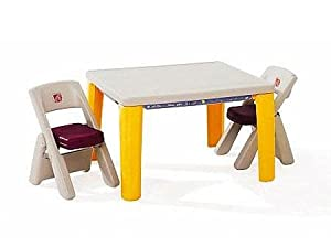 step2 lifestyle folding table chairs set 1 toys games. Black Bedroom Furniture Sets. Home Design Ideas