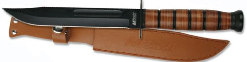 Leather Handle Combat Knife