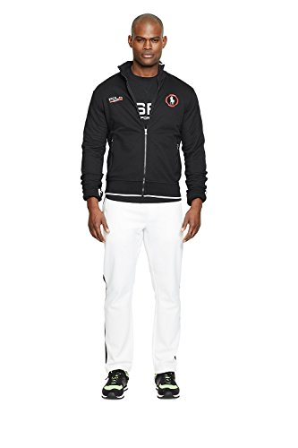 Polo Sport Cotton-Blend Track Jacket (Large, Polo Black )