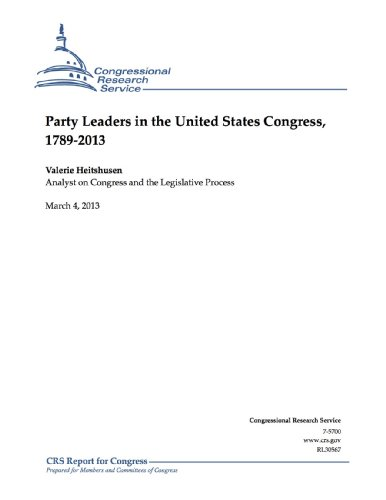 Party Leaders In The United States Congress, 1789-2013