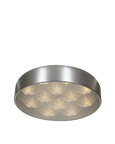 Access Lighting Meteor 9-Light LED Flush Mount, Brushed Silver/Acrylic