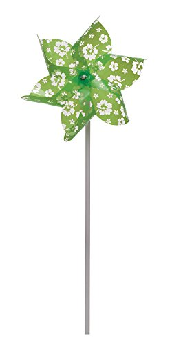 Creative Converting Pinwheel, Green Floral - 1