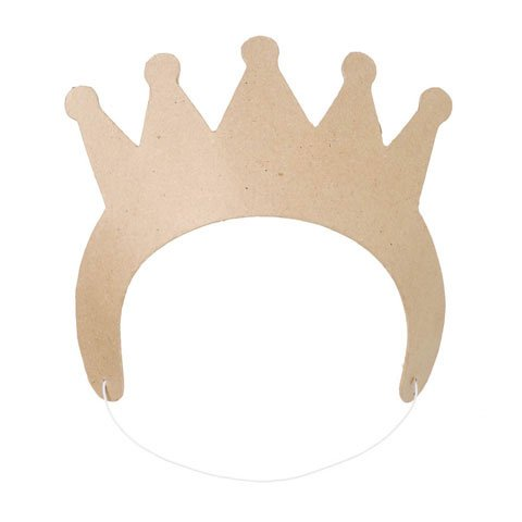 Bulk Buy: Darice DIY Crafts Paper Mache Crown 8-3/4 x 3 inches (6-Pack) 2876-02