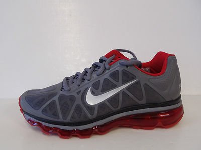 Nike Air Max+ 2011 429890-026 Gry/red Wmns Sz 6