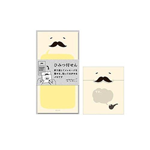 ミドリ 付せん紙 ひみつ ひげ柄 11766006