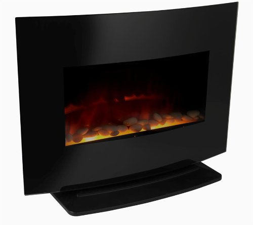 Meridian Point 2 In 1 Wall Mount/Free Standing Electric Fireplace, 1500 Watt