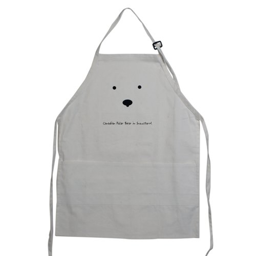 Canadian apron-Canadian Polar Bear in Snowstorm