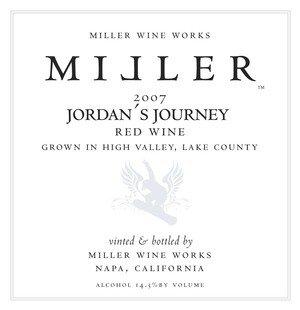 2007 Miller Wine Works Jordan'S Journey Red Wine 750 Ml