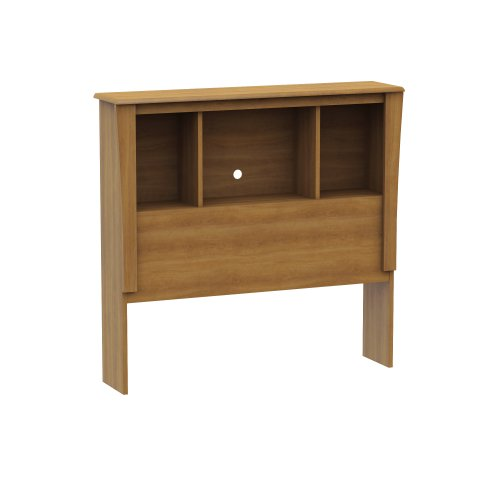 South Shore Jumper Collection Twin Bookcase Headboard, Harvest Maple front-872585